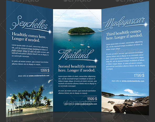 15 great travel brochure templates design freebies for Tourist brochure template