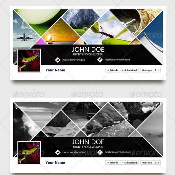 Facebook Cover Collage : Creative facebook timeline cover templates design