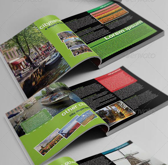 15 great travel brochure templates design freebies for Country brochure template