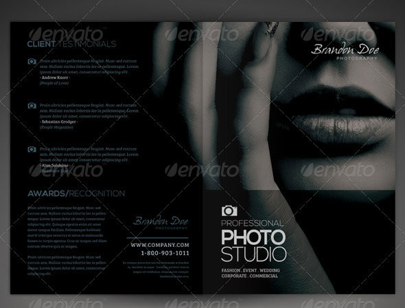 16 cool photography brochure templates design freebies for Photography brochure templates free