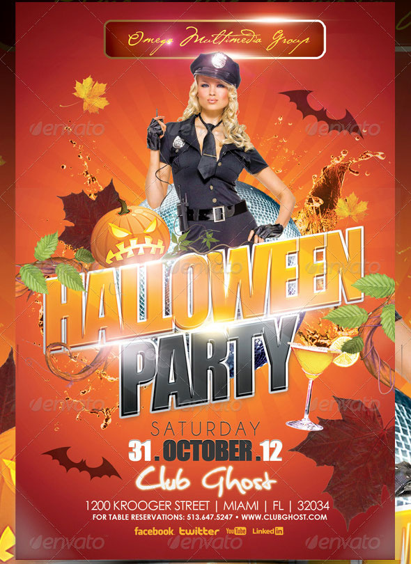 18 Beautiful Halloween Flyer Psd Templates Design Freebies