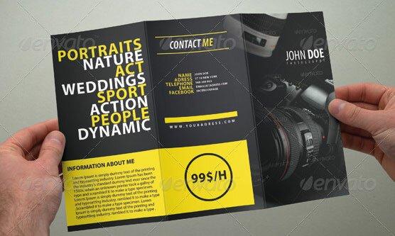 16 cool photography brochure templates design freebies for Photography brochure templates