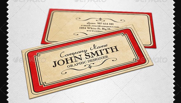 21 Vintage & Retro Business Card Templates