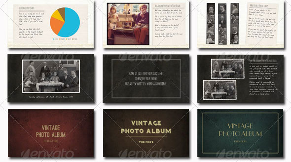 Photo album powerpoint templates free vintage photo album powerpoint template toneelgroepblik Gallery