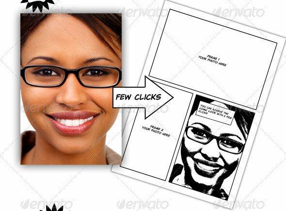 Comic Book Creation Kit Black White