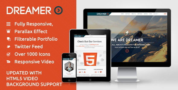 Dreamer Responsive One Page Parallax Template