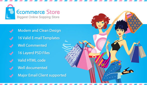 7 Ecommerce Html Email Templates Design Freebies