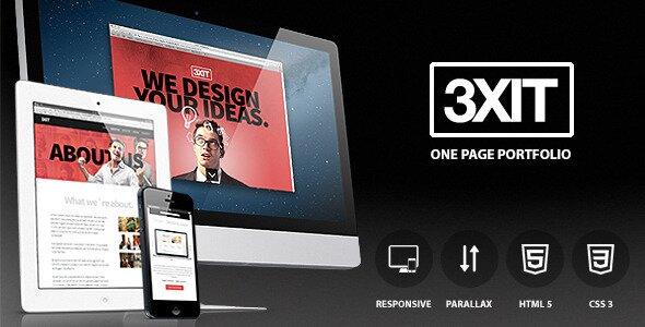 exit-parallax-single-page-portfolio