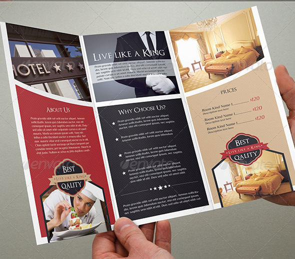 18 Beautiful Brochure Templates A4 Design Freebies – Sample Hotel Brochure