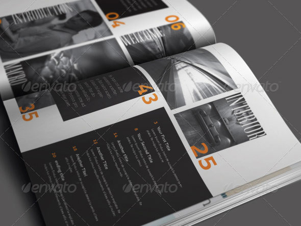 indesign magazine template vol 09 50 pages