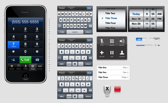 iphone and ipad ui