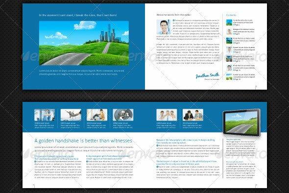 Metro Brochure And Flyer Templates Design Freebies - Horizontal brochure template