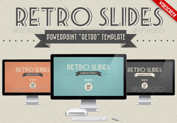 31 vintage powerpoint templates design freebies retro slides powerpoint template wajeb Choice Image