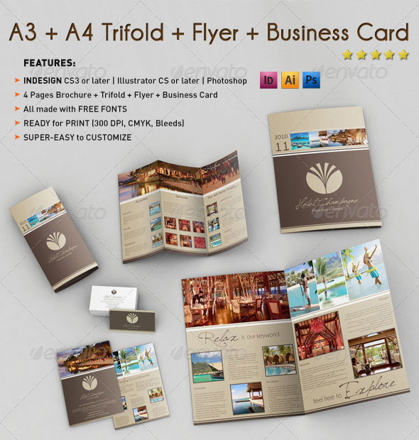 15 Business Trifod Brochure Bundles Design Freebies