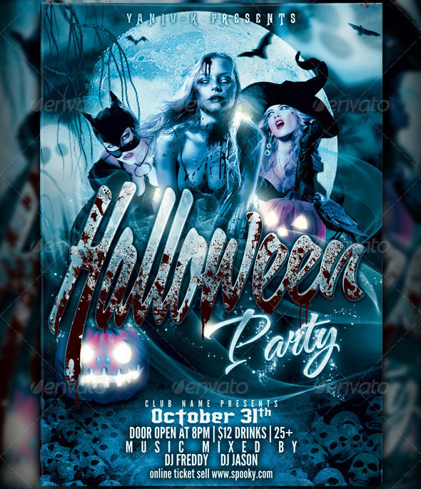 8 Awesome Zombie Party Flyer Templates – Design Freebies