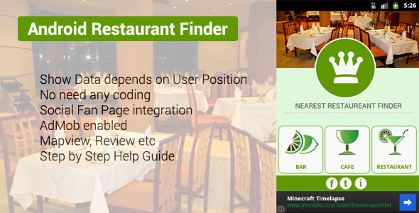Useful android ios restaurant app source codes