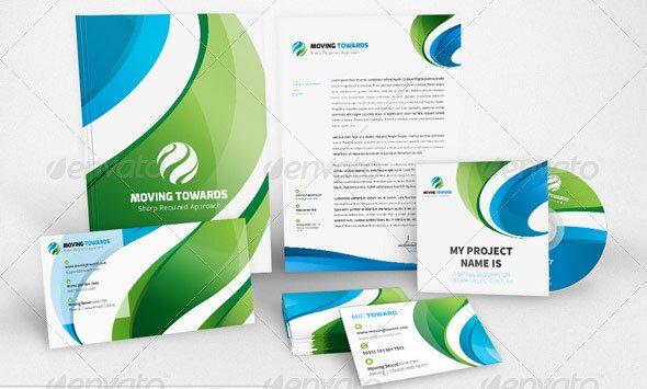 12 modern business identity stationery print templates design