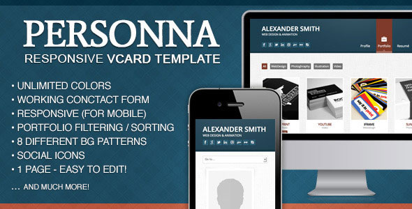 doctype-personna-responsive-vcard-template