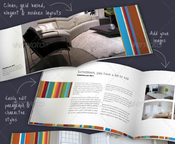 Beautiful Furniture Brochure Templates Design Freebies - Multi page brochure template