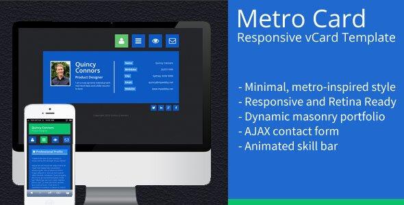 metro-card-minimal-responsive-vcard-template