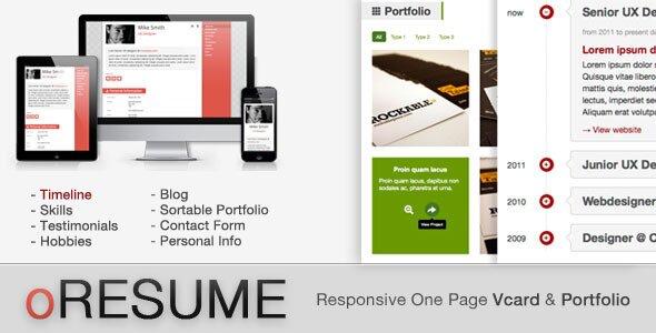 oresume-vcard-portfolio