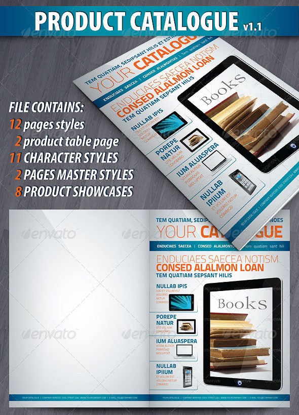 product catalog template free