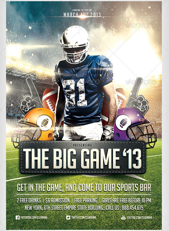 12 Great Games Sport Flyer Templates Design Freebies – Free Sports Flyer Templates