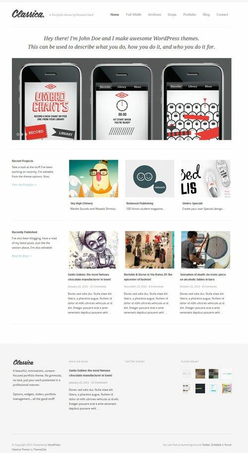 Classica-Minimalistic-WordPress-Portfolio-Theme