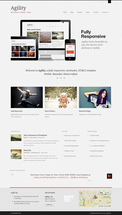agility-responsive-minimal-html5