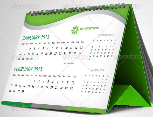 Beautiful Indesign Calendar Templates  Design Freebies