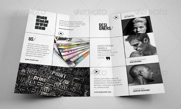Tri Fold Brochure Template Indesign Creative Tri Fold Brochure
