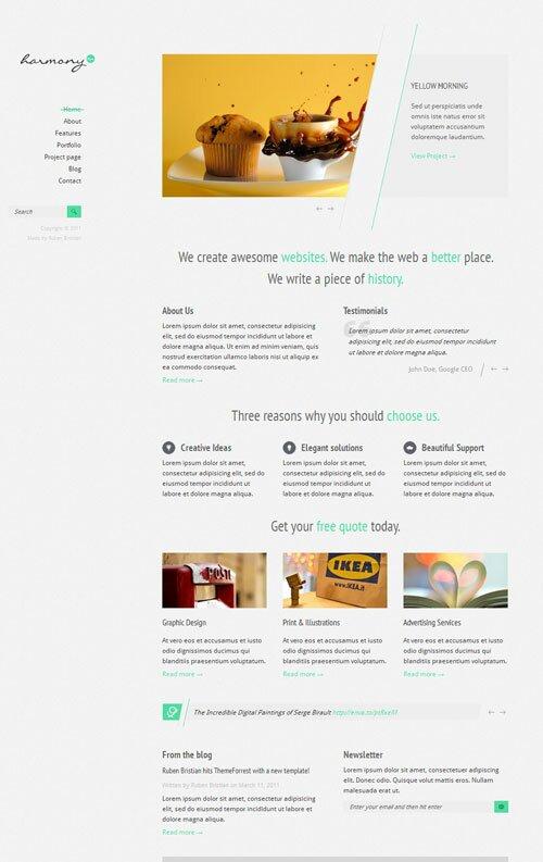 harmony-minimal-portfolio-html-theme