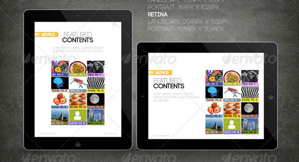27 great digital magazine templates for ipad and tablet design