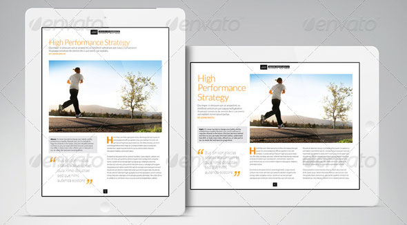 Magazine Layout Templates | 27 Great Digital Magazine Templates For Ipad And Tablet Design