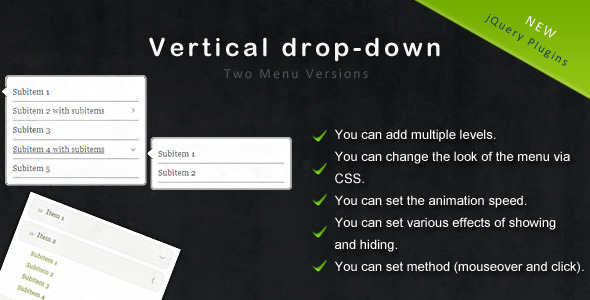 jquery-vertical-drop-down-menu