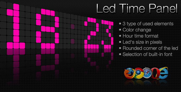 led-time-panel