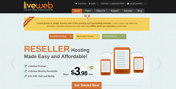 liveweb-html-css-web-hosting-template