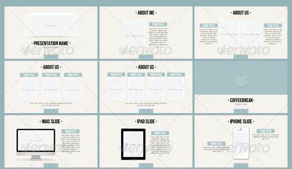 26 minimal presentation templates design freebies for Minimalist powerpoint template free