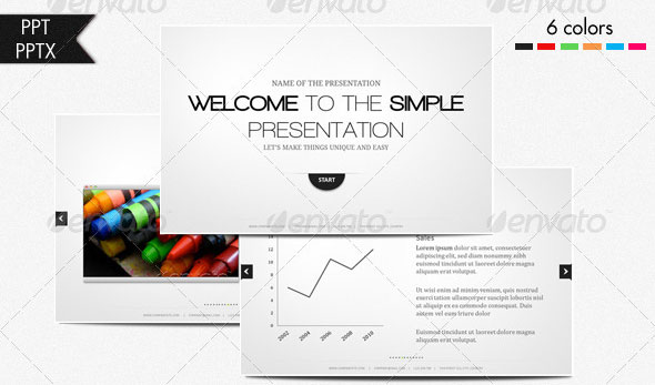 26 minimal presentation templates – design freebies, Modern powerpoint