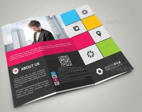 tri fold brochure indesign