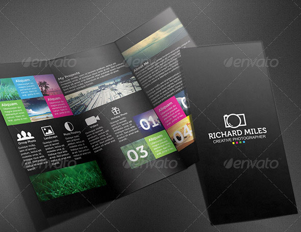 Creative TriFold Brochure Templates Psd  Indesign  Design