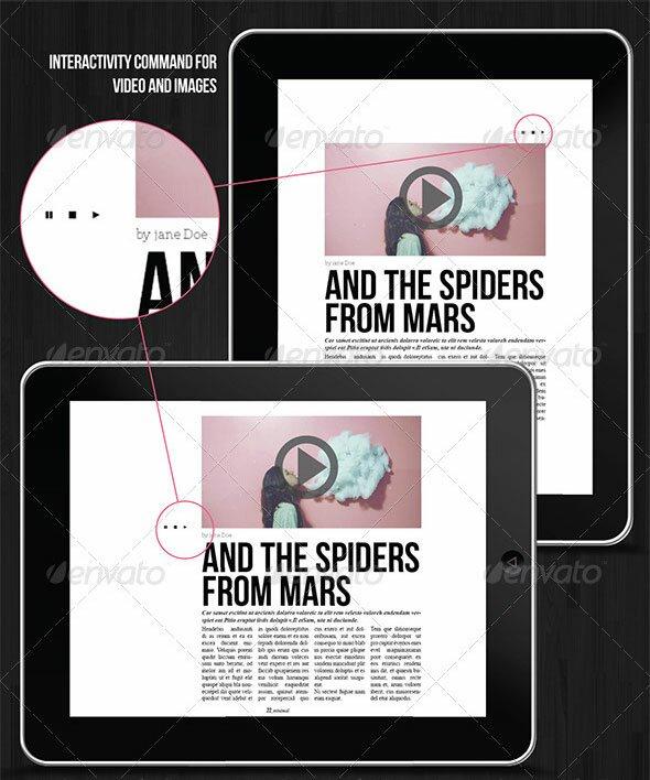 27 great digital magazine templates for ipad and tablet design freebies. Black Bedroom Furniture Sets. Home Design Ideas