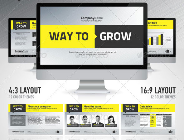 26 minimal presentation templates design freebies