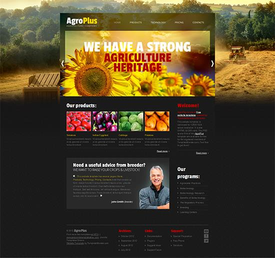 AgroPlus Business Template