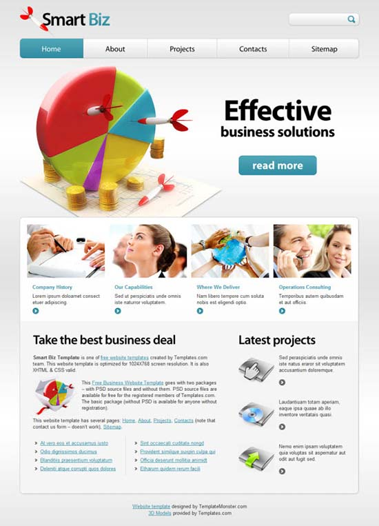 Free Business Website Template Smart Biz