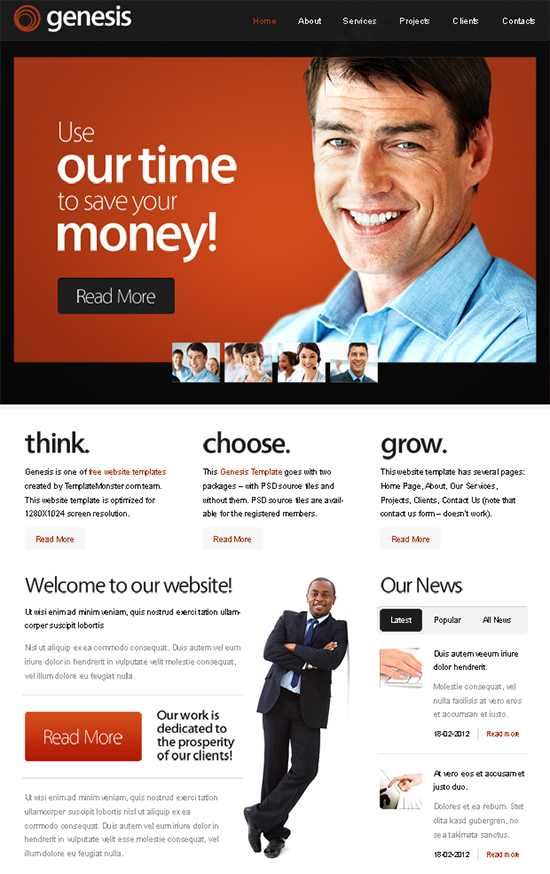 Genesis Business Template