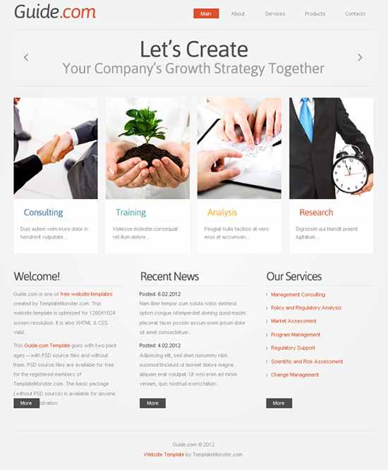 Guide Business Template
