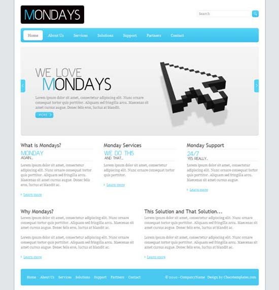 Mondays Business Templates
