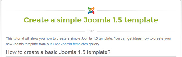 Tutorials design freebies for Joomla template creator open source