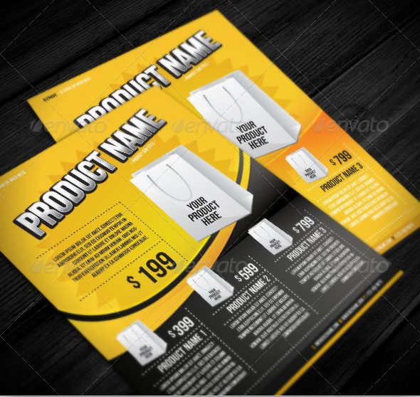28 beautiful product flyer templates  u2013 design freebies